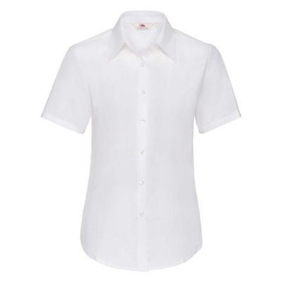 KOSZULA DAMSKA FRUIT OF THE LOOM LADIES OXFORD SHIRT SHORT SLEEVE