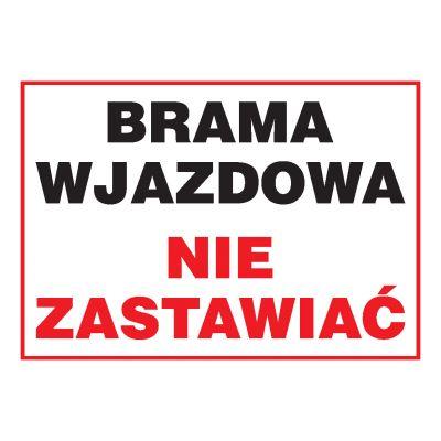 ZNAK INFORMACYJNY BRAMA WJAZDOWA ZI-3