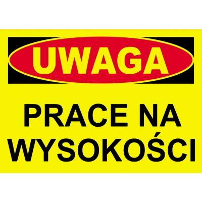 TABLICA OSTRZEGAWCZA PCV PRACE NAWYSOKOŚCI BTO-7